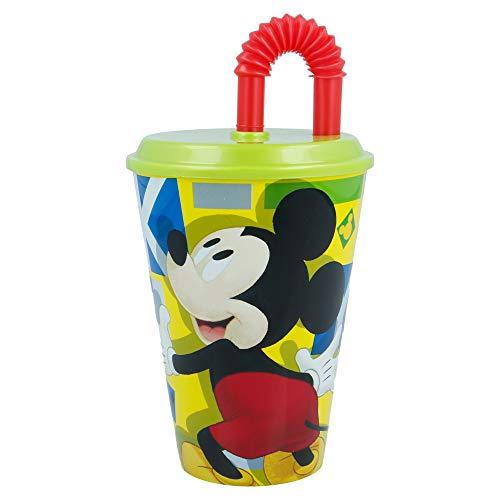 Stor Bicchiere Canna Easy 430 ml | Topolino - Disney - Watercolors, nero 44230