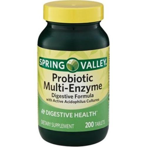 1 bot.Spring Valley Probiotic Multi-Enzyme Digestive Health Pills Tablets, 200 count