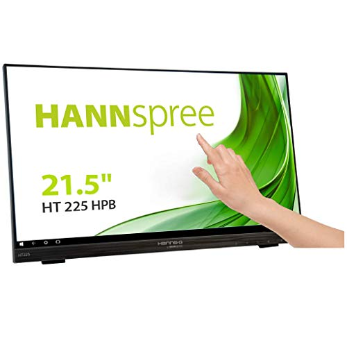 HANNspree HT225HPB 54,6cm (21,5') Multitouch-Monitor Full-HD 250cd VGA HDMI DP Lautsprecher USB VESA Neigbar