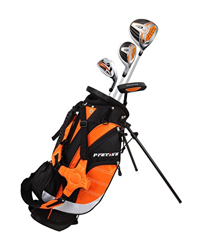 Precise XD-J Junior Complete Golf Club Set for Children Kids - 3 Age Groups Boys & Girls - Right Hand & Left Hand! (Orange Ages 3-5, Right Hand)