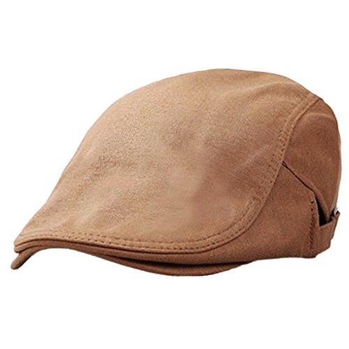 Panegy - Sombrero de Boina Bombines con Visera Corta Beret de Hombre Gorro Gorra de Boina para Golf Taxista Casquillo Caballero Vintage - Marrón