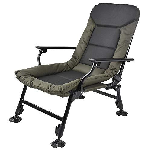 Ausla Silla de pesca, silla de camping plegable para exteriores, capacidad de carga de 180 kg, para camping, festivales, jardín, viajes en caravana, pesca