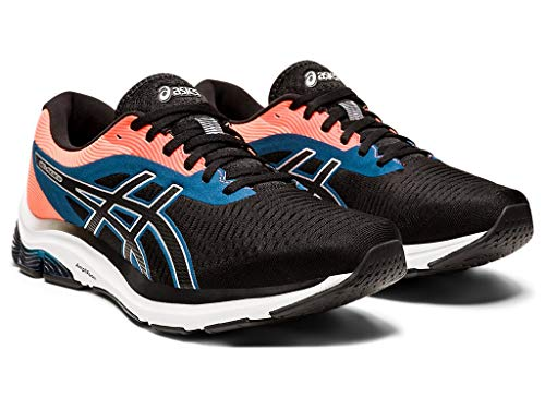 ASICS Men's Gel-Pulse 12 Running Shoes, 7M, Black/Pure Silver