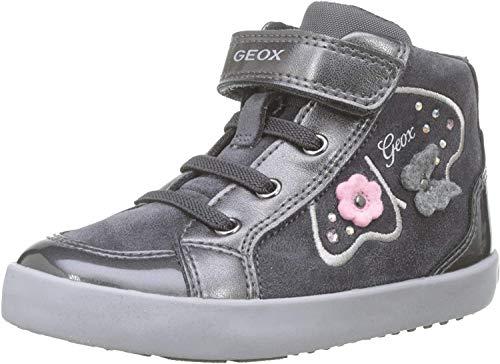 Geox Baby Mädchen B Kilwi Girl A Sneaker, Grau (Dk Grey C9002), 27 EU