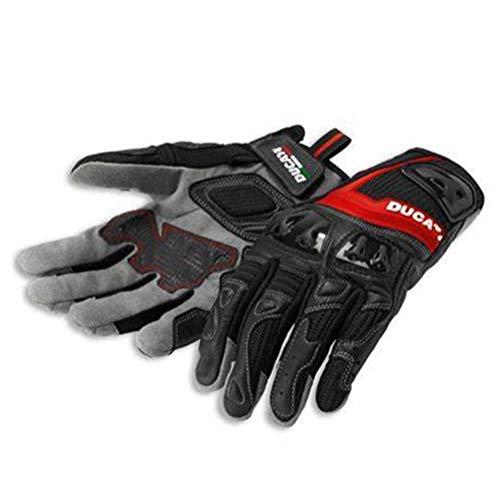 Guantes de Moto Guantes de Cuero Profesión equitación de Motos compatibles con Ducati C1 (Size : XL)