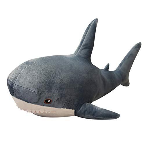 QSMIANA Almohada 60-140Cm Tiburón Gigante Tiburón Peluche Suave Relleno Speelgoed Animal Lectura Almohada para Regalos De Cumpleaños Regalo De Muñeca De Cojín para Niños