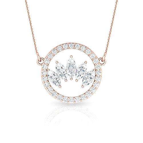 Rosec Jewels - 18 Karat Rotgold Markise Runder Brilliantschliff Leicht Getöntes Weiß/Top Crystal (I) Diamant