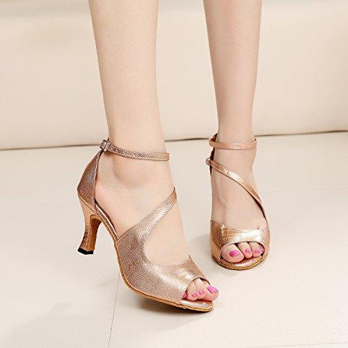 MINITOO ,  Damen Tanzschuhe, Gold – Rose/Gold-7.5cm Heel – Größe: 39 - 6