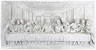 Design Toscano KY11448 The Last Supper Religious Wall Frieze Sculpture, 23 Inch, Antique Stone