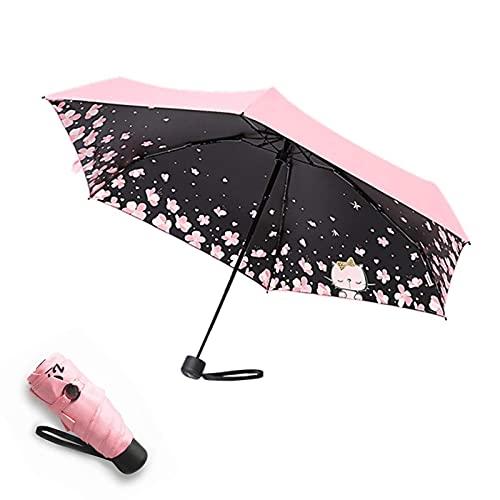 Paraguas de viaje mini impermeable resistente compacto paraguas de lluvia viaje al aire libre pesca protección transparente