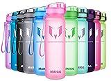 MAIGG Best Sports WasserFlasche Trinkflasche - 500ml & 1000ml - Eco Friendly & BPA-freiem Kunststoff - für das Laufen,Fitness,Yoga - Schnelle Wasserdurchfluss,öffnet Sich mit 1-Click