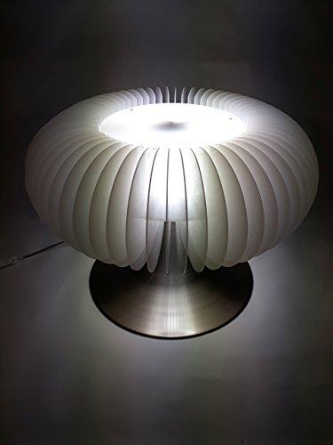 Retro Tischlampe Bodenleuchte Leuchtobjekt Space Age Weiß XL