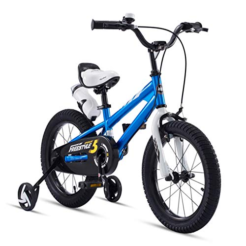WANGPIPI Children Bicycle Boys and Girls On Bicycles Indoor Exercise Bike Outdoor Bike Gifts for Children 12/14/16/18 Inches 3-18 Years Old Children's Bicycle Surprise (Color : Blue, Size : 14inch)