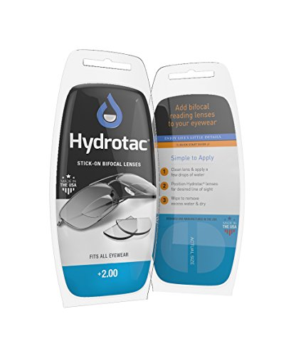 NEOPTX - Hydrotac Stick-on Bifocal Lenses (OPTX 20/20)- +2.00 Diopter -
