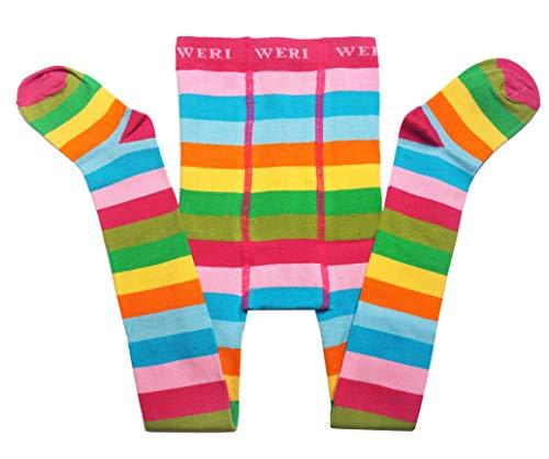 Weri Spezials Babystrumpfhosen Regenbogen-Farben Gr. 98-104 (3-4 Jahre)