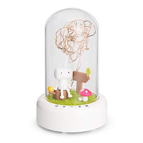LEYOUDIAN Fleur éternelle Haut-Parleur Bluetooth Saint Valentin Cadeau Souhaitant Streamer Night Light