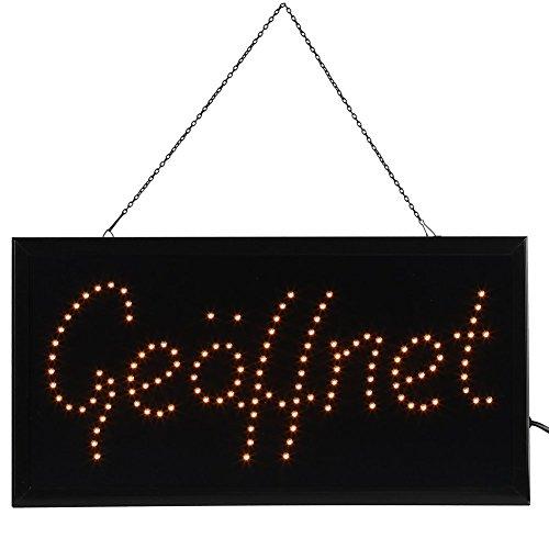 LED Leuchtreklame Werbung, Led-Schild, LED Shop Schild Neonlicht Fenster Tür hängen Zeichen (Gelb Geöffnet)