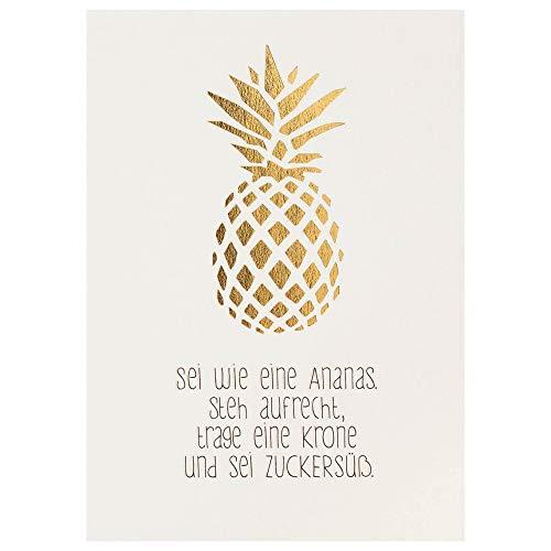 """Mein Lieblingsmensch Postkarte""""Sei wie eine Ananas"""""""