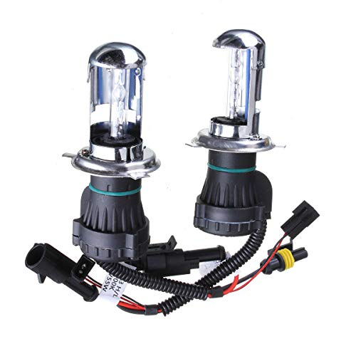 ZLSP 2 unids H4 55W Coche HID Xenon Fightlights Bi Beam Feurlamp Bulb 3000K-15000K (Color : 15000K)