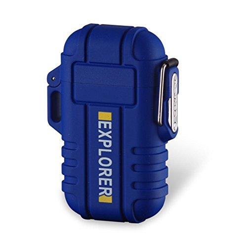 Elektronisches Aufladbar Feuerzeug Dual Arc Lighter USB Elektrisches Feuerzeug Plasma Wiederaufladbar Flammenlos Winddicht Wasserdicht Mini Tragbar