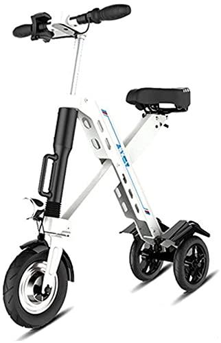 Xiaokang Mini Scooter eléctrico para Adultos, monopatín oletric portátil Plegable con Asiento Plegable, 25km / h para congestión de tráfico y Actividades al Aire Libre,B