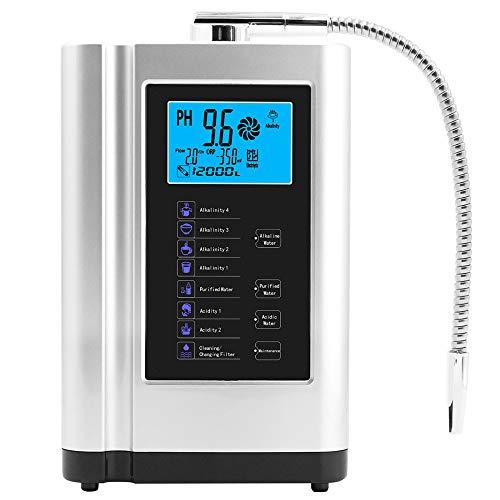 Wasserionisator für alkalisches Wasser, Ionisator, Filter, Touch-LCD-Display, PH3,5–10,5, Größe 28,5 x 17 x 11 cm