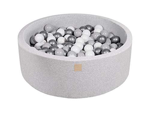 MEOWBABY Piscine À Balles 90X30cm/200 Balles ∅ 7Cm pour Bébé...