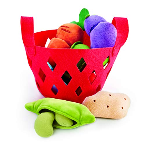 Product Image of the Hape Toddler Vegetable Basket |Soft Vegetable Shopping Basket, Toy Grocery Food...