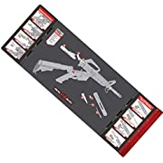 """Real Avid Smart Mat - 43x16"""" Large Padded Gun Mat, with Magnetic Parts Tray and 223 Rifle Graphics with Disassembly Instructions, Oil-Resistant Solvent-Resistant Protective Mat for Gun Cleaning"""