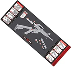 "Real Avid Smart Mat - 43x16"" Large Padded Gun Mat, with Magnetic Parts Tray and 223 Rifle Graphics with Disassembly Instructions, Oil-Resistant Solvent-Resistant Protective Mat for Gun Cleaning"