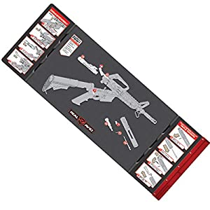 "Real Avid Smart Mat – 43×16"" Large Padded Gun Mat, with Magnetic Parts Tray and 223 Rifle Graphics with Disassembly Instructions, Oil-Resistant Solvent-Resistant Protective Mat for Gun Cleaning"