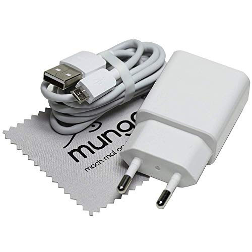 Cargador para Original Huawei HW-050200E02 para Huawei P Smart 2019, P Smart Plus+, P Smart, Y7 2018, Y6 2018, Y5 2018, Honor 8X cable de carga con paño de limpieza mungoo