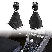 フォード フォーカス MK2 C-Max クーガ用 ギアシフトヘッドカバートリム ギア シフトノブ カバー トリム インテリアパネル 見栄え 光沢感 ABS製 軽量 耐変色性 耐久性(6スピード)