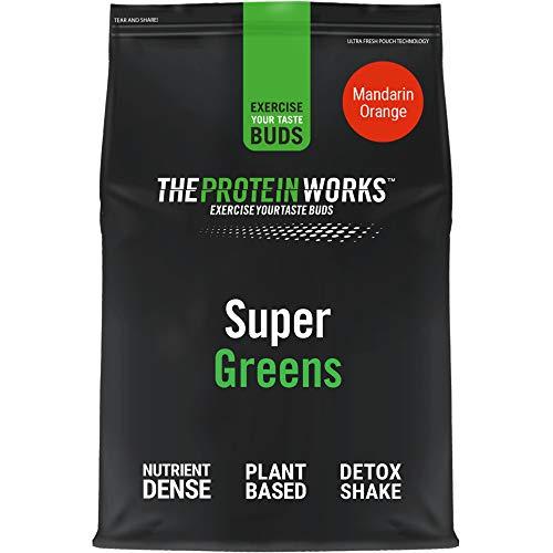 THE PROTEIN WORKS Super Greens Powder | Nutrient Dense Detox Shake | Supports Immune System | 100% Vegan | THE PROTEIN WORKS | Mandarin Orange | 250 g