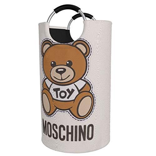 Moschino Bear - Cesta de lavandería, impermeable, grande, organizador para ropa, juguetes, dormitorio, baño, con asas de aluminio