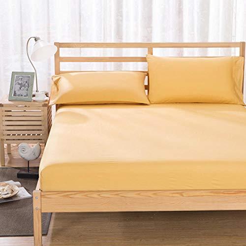 HPPSLT colchón Acolchado, antialérgico antiácaros, Funda Antideslizante para sábanas Camel_180x200cm