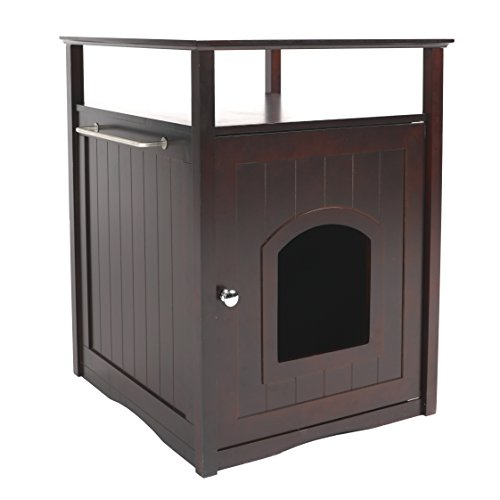 Merry Pet Cat Washroom/Night Stand Pet House – Hidden Litter Box Furniture