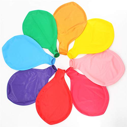 36 Inch Giant Latex Jumbo Balloons, 8 Pack 36 Assorted Colors large Balloons for Photo Shoot/Birthday/Wedding Party/Festival/Event/Carnival Decorations, Mix Color (Premium Helium Quality)