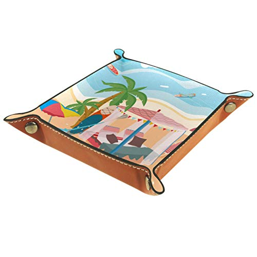 rodde Männer Frauen Schmuck Schlüsselfach,Ordentlich Tablett,Cabana Privat,Taschenleerer Leder,Elegantes Geschenk