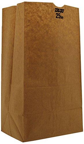 Duro ID# 18428 25# Short SOS Bag 40# 100% Recycled Natural Kraft 500pk 8-1/4 x 6-1/8 x 15-7/8 (Case of 500 Bags)