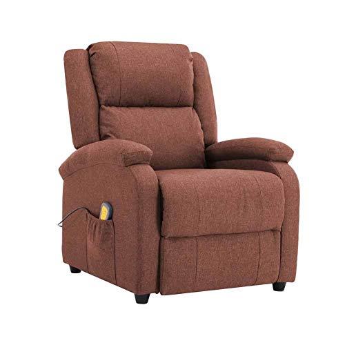 Elektrischer Massagesessel, elektrischer Relax-Sessel, Stoff mit 3 Intensitätsstufen, 5 verschiedene Modi, Massage mit 8 Punkten und Wärme der Lendenwirbel.