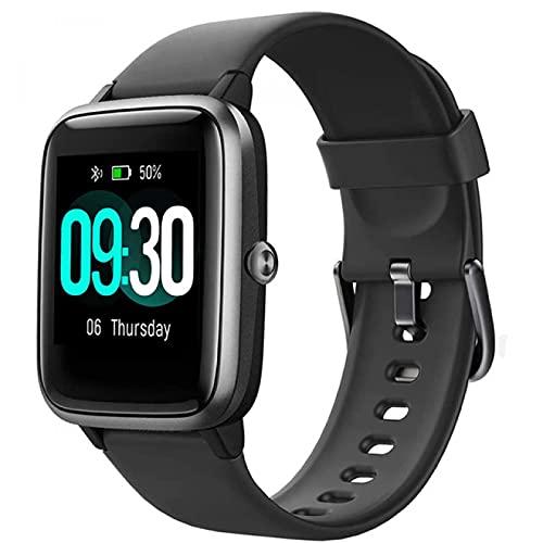 Reloj inteligente, IP68, natación, impermeable, reloj inteligente, rastreador de ejercicios, reloj de fitness, monitor de frecuencia cardíaca, relojes inteligentes para hombres y mujeres, color rosa