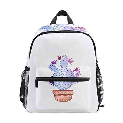 MALPLENA Bolsa de viaje infantil Light Purple Cactus School bag