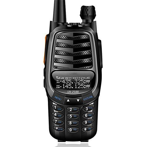 Zxh Interphone Walkie-Talkie,Draussen 50 Km Handheld UV Zweisegmentigen Intercom Wasserdicht Ingenieurwesen Eigentum Walkie (1 Paar) (Color : Black)