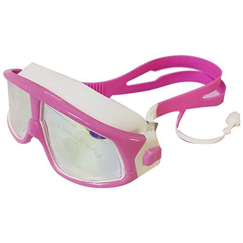 Karrychen Gafas de natación galvanizadas Impermeables con Montura Grande para niños Phantom Junior