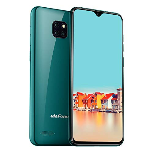 Ulefone Note 7 Smartphone ohne Vertrag, Android 9.0 Smartphone 3 Kameras, 6,1 Zoll, Dual SIM Handy, Face ID - Grün