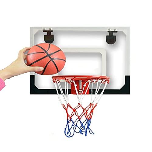 Aro de Baloncesto Aro de Baloncesto para niños montado en la Pared, Mini Oficina en casa, Baloncesto, Divertido Juego de Deportes, Juguete, con una Pelota de Baloncesto de Goma, fácil de inst