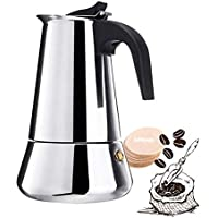 Stovetop 6-Cup 10oz/300mL Espresso Coffee Maker with Percolator