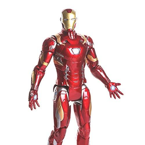 NYDZDM (36cm) Avengers Series - Iron Man Anime Character Toys Artwork PVC Decoración del hogar Objetos de Oficina Modelo de Estatua de Alto Grado, Colecciones conmemorativas.