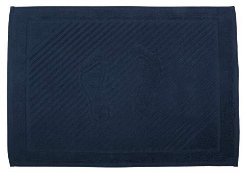 Alfombra de baño de 50 x 70 cm, color azul marino (no es una alfombra de baño), 1 paquete de 100% algodón natural, lavable, para el baño, baño, 750 g/m²